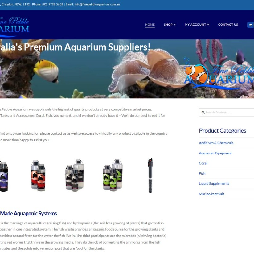Fine Pebble Aquarium